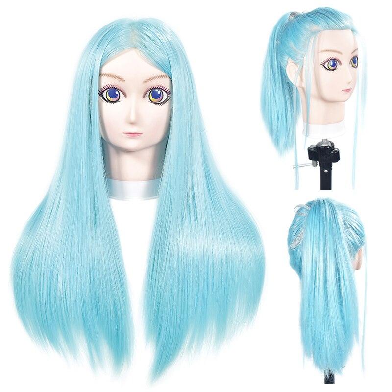 Vente chaude 24 Comic Mannequin Tête Avec Des Cheveux Coiffure Formation Practce Dummy Dolls de Coiffure Coiffures Formation Mannequin Têtes