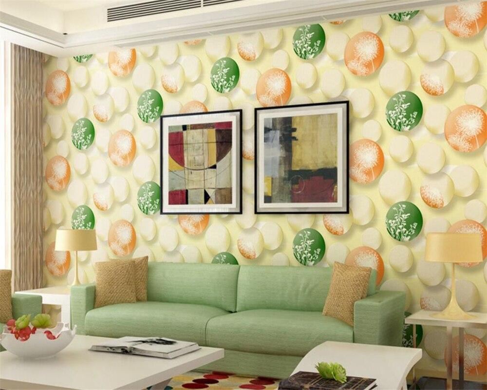Beibehang wallpaper for walls 3 d round balloon pink children room ...