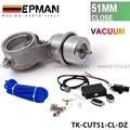 2'' 51mm Closed Vacuum Exhaust Cutout Valve with Wireless Remote Controller Set TK-CUT51-CL-DZ