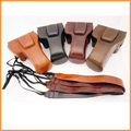 Pu leather camera case bag for canon eos 600d 650d 700d con la correa de hombro de alta calidad