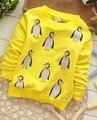 (1 шт./лот) 100% хлопок 2016 желтый пингвин мальчик верхняя одежда (1-3 лет 73,80 90 см)