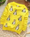 (1piece /lot) 100% cotton 2016 yellow penguin  baby boy  outerwear (1-3 year old 73,80,90cm)