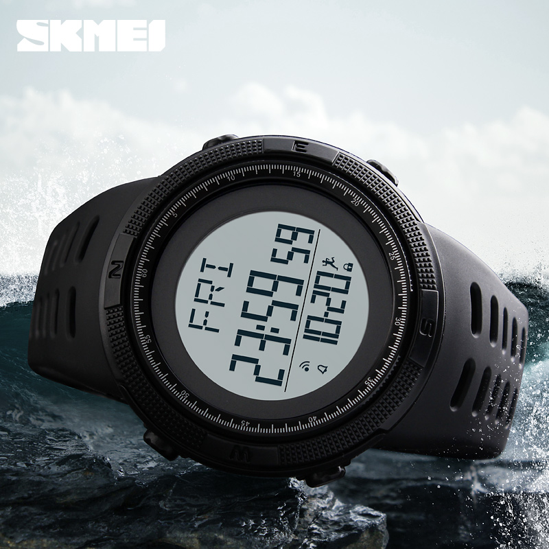 SKMEI Pedometer Sports Watches Men Fashion Outdoor Sport Watch 50M Waterproof Digital Wristwatches Relogio Masculino купить в Москве 2019