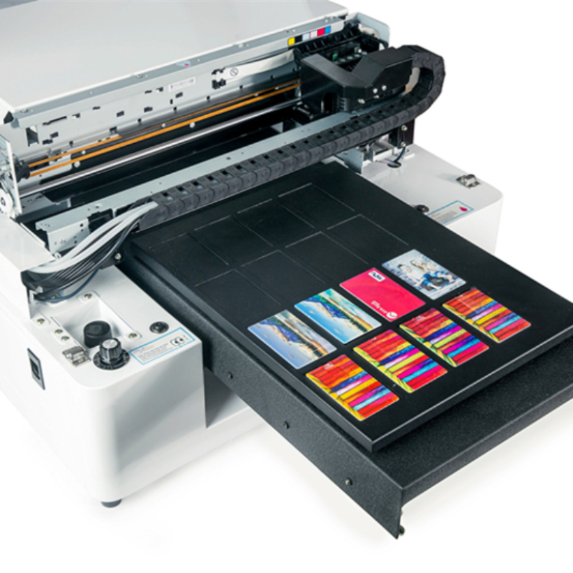 A3 UV led pvc card Printer flatbed printing Machine woth high resolution AR-LED Mini4 image