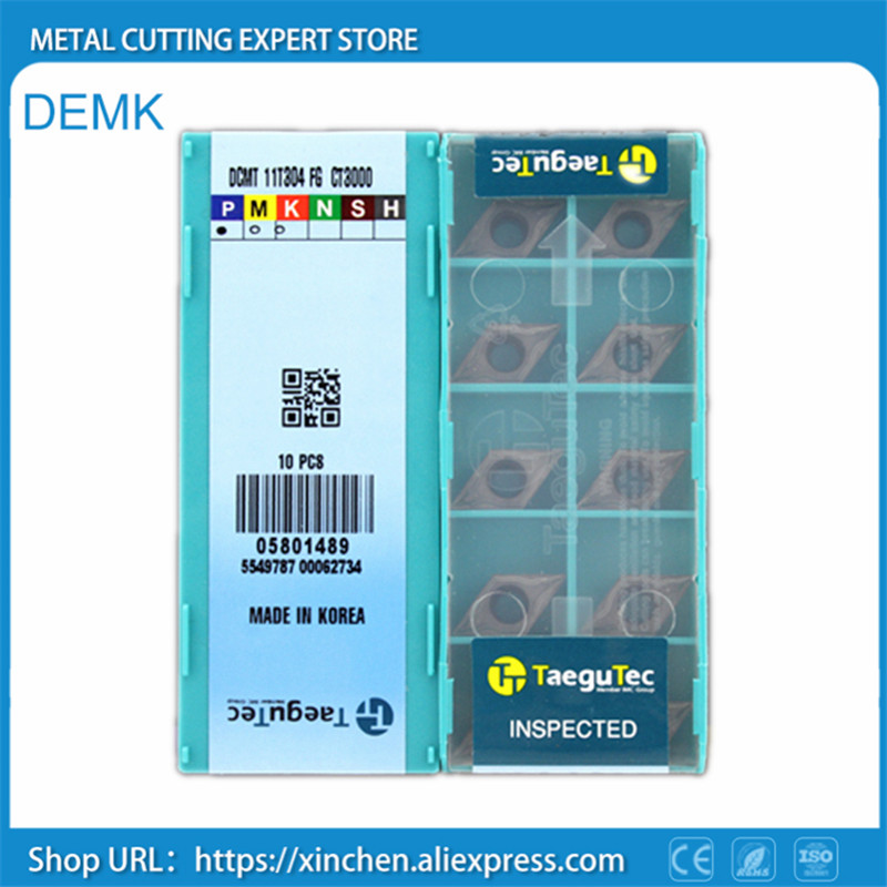 Knife DCMT11T304 FG CT3000 10pcs for Taegutec CNC Metallic cerami smooth blade processing Stainless steel and