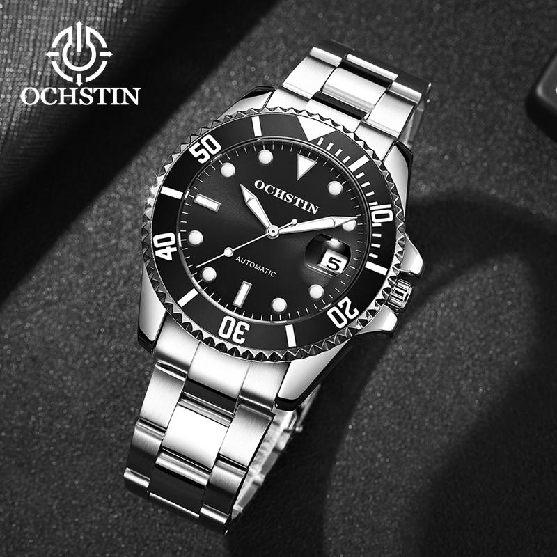 2019 OCHSTIN Top Brand Men Mechanical Watch Automatic Fashion Luxury Stainless Steel Male Clock Relogio Masculino
