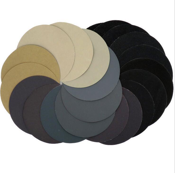 Image 3 - 30pcs 125mm  Grit 1000/1500/2000/3000/5000/7000 Water Wet Dry Sanding Discs Hook Loop Sandpaper Round Sandpaper Disk Sand Sheet-in Abrasive Tools from Tools