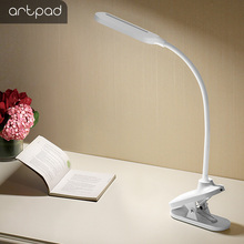 Artpad 7W Eyecare 3M Glue Hanging Wall Desk Light Study Dorm Room Reading Bedside Lighting Dimmable 5cm Clip Desktop Night Lamp
