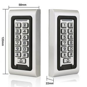 Image 5 - Waterproof IP68 RFID 125KHZ ID Keypad Single Door Stand alone Access Control Metal Case&Wiegand 26 bit+10pcs RFID Cards F1215