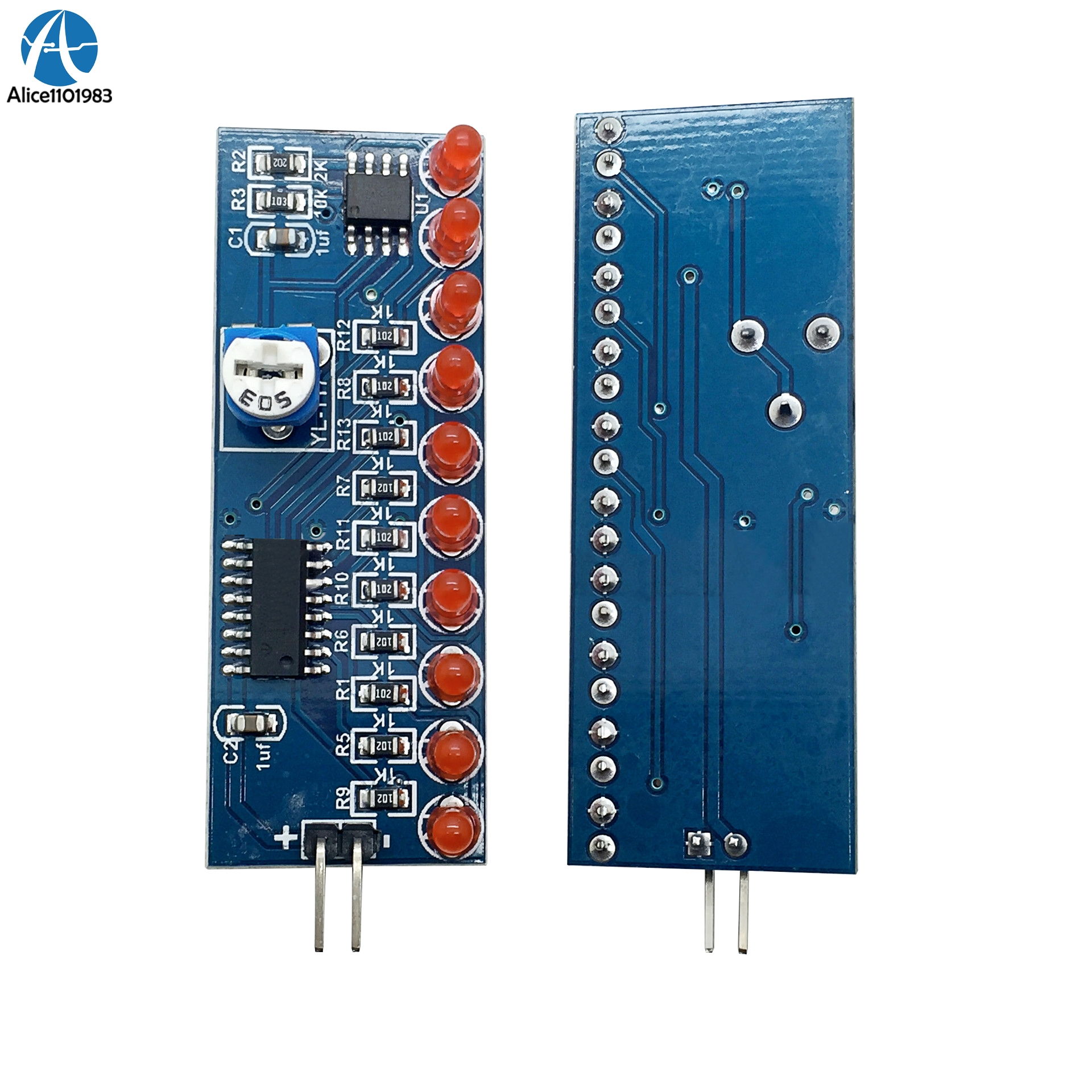 Integrated Circuits Electronic Components & Supplies Ne555 Cd4017 Running Led Flow Light Electronic Production Suite Board Diy Kit Module Capacitor Control Oscillator Clock Siganal