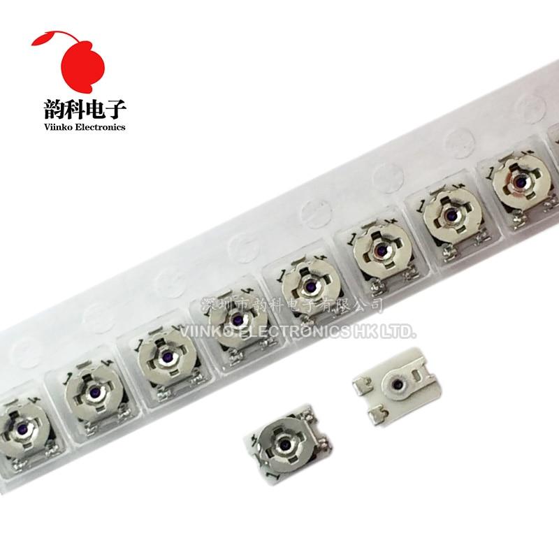 20 pçs 3*3 trimpot smd 3x3 ajustável resistor variável da resistência do potenciômetro do aparador 100 500 1 k 2 k 5 k 10 k 20 k 50 k 100 k 1 m ohm