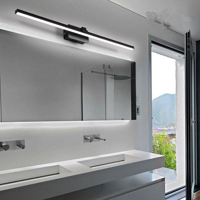 Cuarto de baño espejo faro moderno Simple nórdico gabinete iluminación  lavadero pared lámpara luz cálida blanca PC