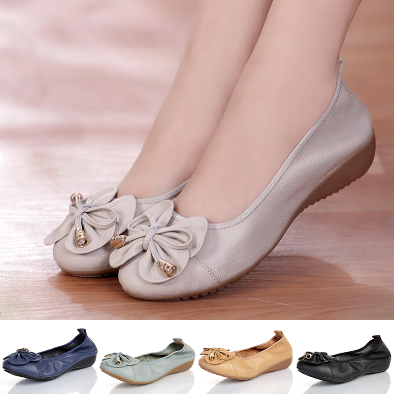 Plus Size(35 42) Women Shoes Genuine Leather Flat Shoes ...