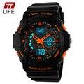 2016 Nueva Marca TTLIFE Hombres Reloj Impermeable de Los Deportes Militar Dual Time Display Relojes de Los Hombres de Lujo de Cuarzo Analógico Reloj Digital