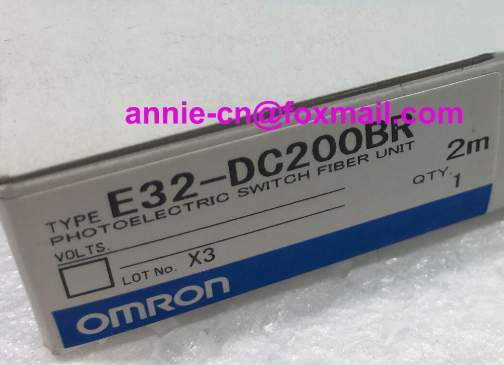 E32-DC200BR  2M  New and original  OMRON  PHOTOELECTRIC SWITCH FIBER UNIT dhl ems 5 sests new in box for omron plc e32 d21b e32d21b photoelectric switch fiber unit