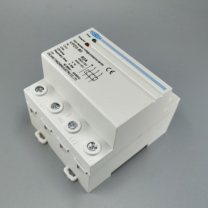 Image 4 - 60A 380V~ Three Phase four wire Din rail automatic recovery reconnect over voltage and under voltage protective protection relay