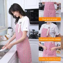 New Kitchen Apron Women Men Adjustable Cotton Linen High-grade Kitchen Apron For Cooking Baking Restaurant Pinafore