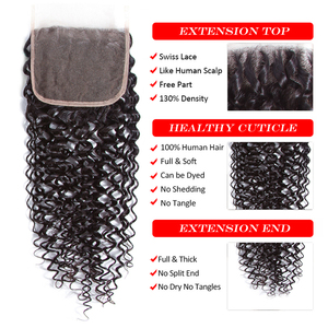 Image 5 - Sweetie Indian Hair Bundles with Closure Afo Kinky Curly Human Hair Weave Bundle 3 Bundles with Lace Closure Non remy
