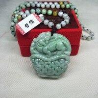 Zheru Jewelry Pure Natural Jadeite Green Fortune Beast Pendant Three color jadeite jade necklace Gift A level national certifica