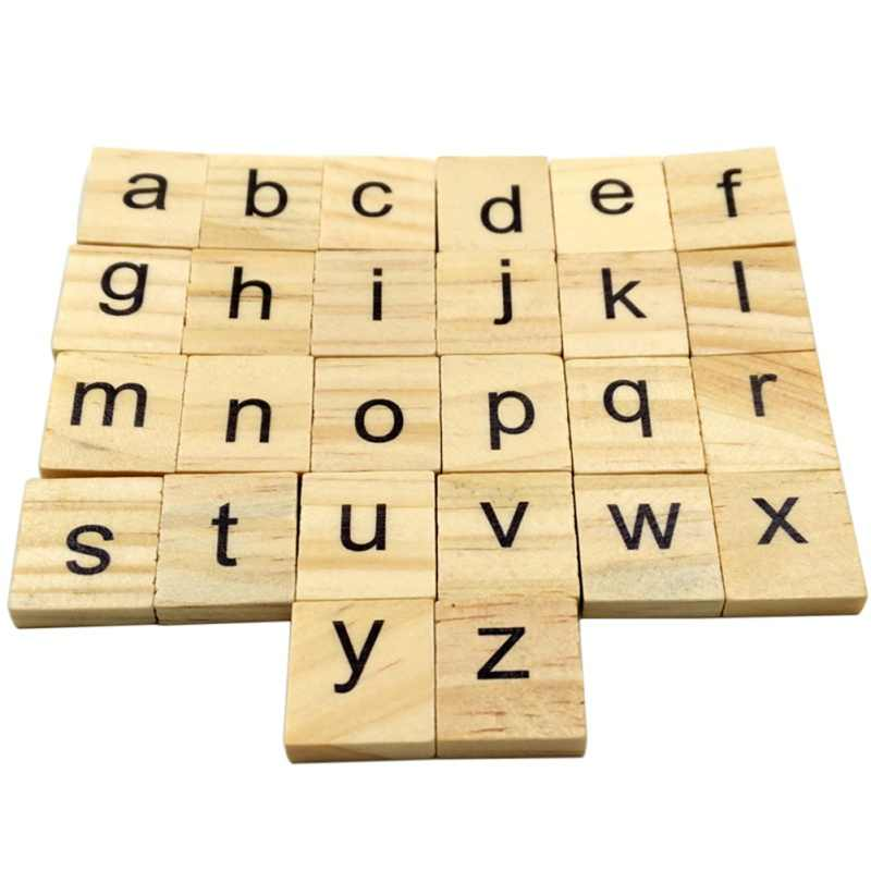 Detail Feedback Questions about 100Pcs/set Wooden Letters