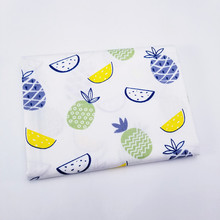 Cotton Fabric Printed Fruit Twill Fabric Cloth For Home Textile Material Bed Sheet Soft Cloth Quilting Tecido Baby Beding Dolls