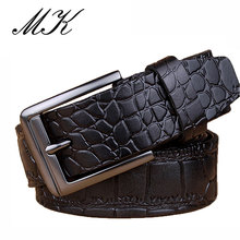 Maikun Belts for Men Belt Crocodile Skin Printed Male High Quality Designer Business