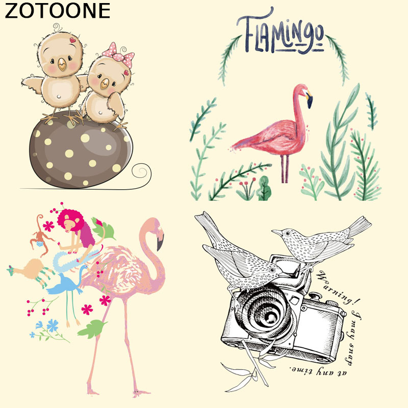 ZOTOONE Clothes Patches T-shirt Press Sticker Cartoon Iron on for A-level Washable Appliques Heat Transfer E