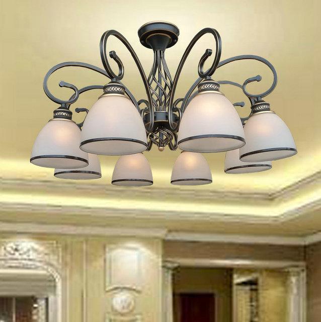 Multiples Lustre LED cuivre plafond lampe simple pastorale Tieyi ...