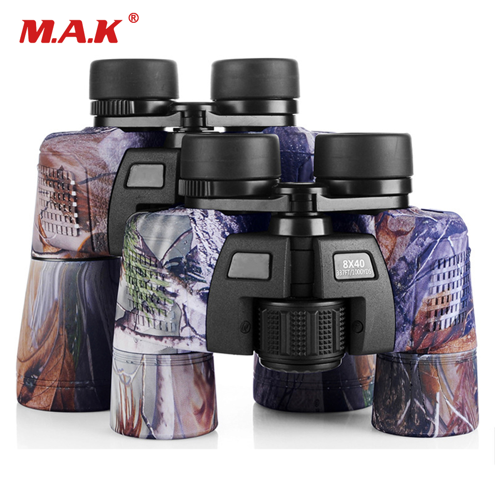 8x40 /10x50 Binocular Military Camo Telescope Waterproof Fmc Blue Film Coated Optical Len For Hunting Hunting