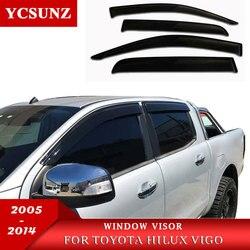 حاجب للشمس منحرف للشباك الجانبي لسيارة تويوتا هايلكس فيجو 2005-2014