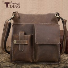 Men Vintage Brand Luxury Shoulder Crossbody Bags 2018 Genuine Leather High Quality Travel Business Brown  Men Messenger Bag aelicy brand men messenger bag high quality shoulder bag for women business travel crossbody bags for men messenger large