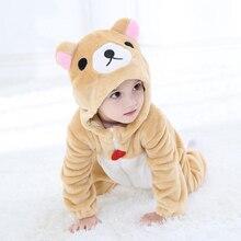 Детские Rilakkuma Kigurumi пижамы Костюмы комбинезоны для новорожденных  животного Свободный комбинезон для косплея костюм наряд с 4eedf9e1cfb1d