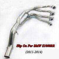 Motorfiets Volledige Systeem Uitlaat Motor Uitlaat Front Mid Link Pijp Slip Op Voor BMW S1000RR Zonder Uitlaat 2011 12 13 14