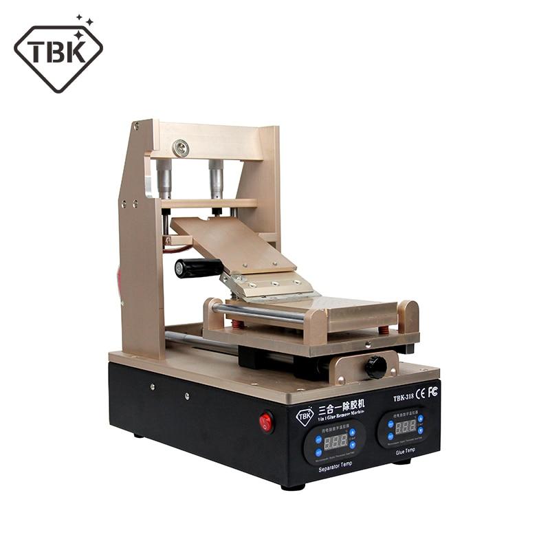 NEW TBK-318 3 in 1 Vacuum LCD Screen Separator + Preheater +OCA Glue Polarizer RemoverMobile Phone LCD Screen Refurbish Machine цены