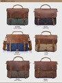 2016 de couro da lona sacos de homens mensageiro sacos crossbody Vintage para homens homens casuais de sacos de viagem bolsa de negócios