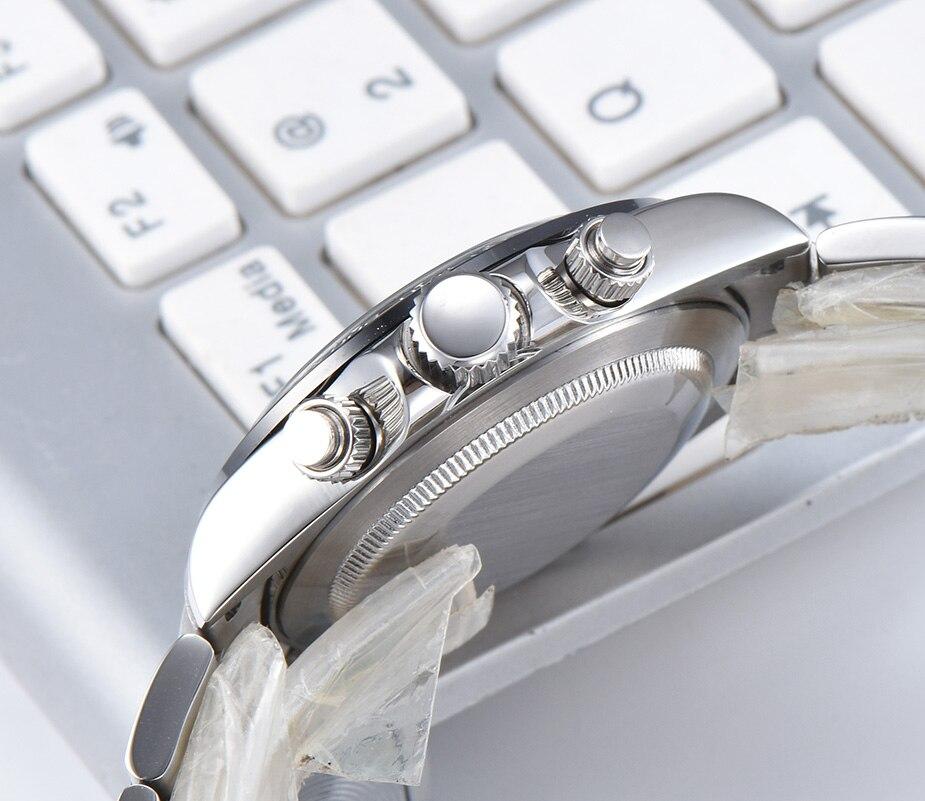 Parnis Quartz Chronograph Watch Men Top Brand Luxury Pilot Business Waterproof Sapphire Crystal Men's Watch Relogio Masculino