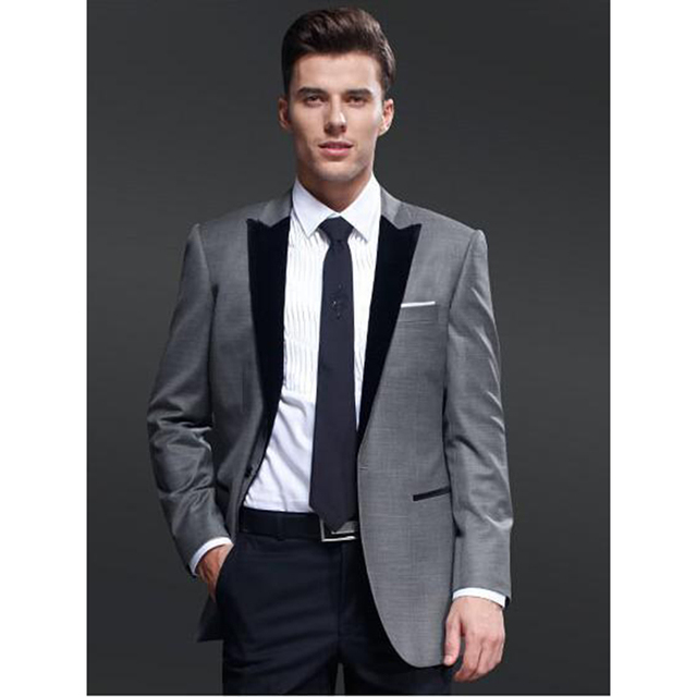 2017 New Latest Design Mens Suits Groom Tuxedos Groomsmen Wedding Party Dinner Best Man Blazer