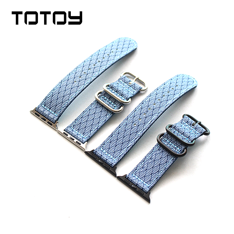Us 13 26 15 Off Totoy Personalized Fish Pattern Nylon Strap Iwatch Apple Watch Watchbands 38mm 42mm Nylon Strap In Watchbands From Watches On