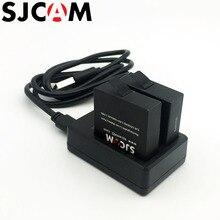 Оригинальный SJCAM 2 шт. батареи 3.8 В 1000 мАч аккумуляторная Батарея + двойной Зарядное устройство для SJCAM SJ6 Легенда Спорт действий Камера Аксессуары