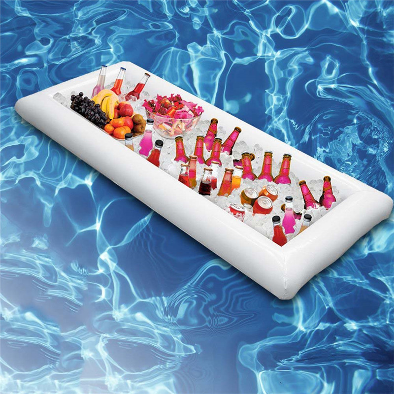 Inflatable Beer Table bUnicorn/Flamingo Drink Can Cell Phone Holder Floating Swimming Stand Pool Bathing Beach Event Party