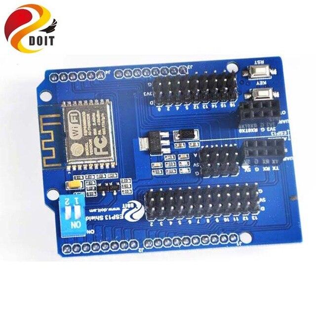 Original DOIT Serial WiFi Shield for Arduino UNO R3 2560 from ESP8266 WiFi Web Sever Shield ESP-13 IoT DIY Development Board Kit