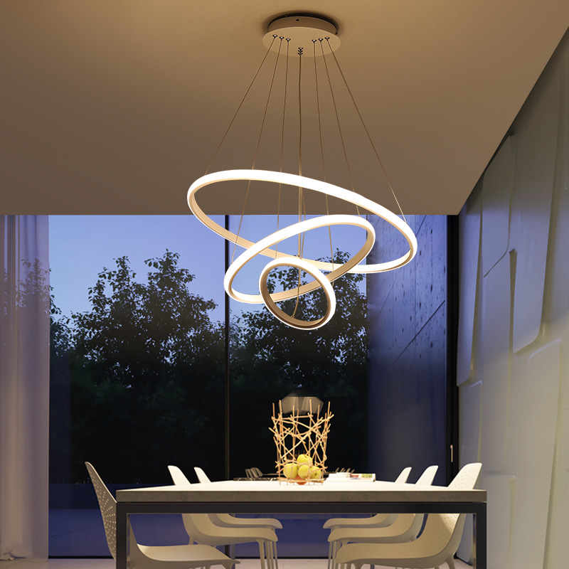 Modern led Pendant Light for Kitchen Dining Room Living Room Suspension luminaire Hanging White Black Circle Wave Pendant lamp k1rf ltech one way touch switch panel ac200 240v input can work with vk remote page 7