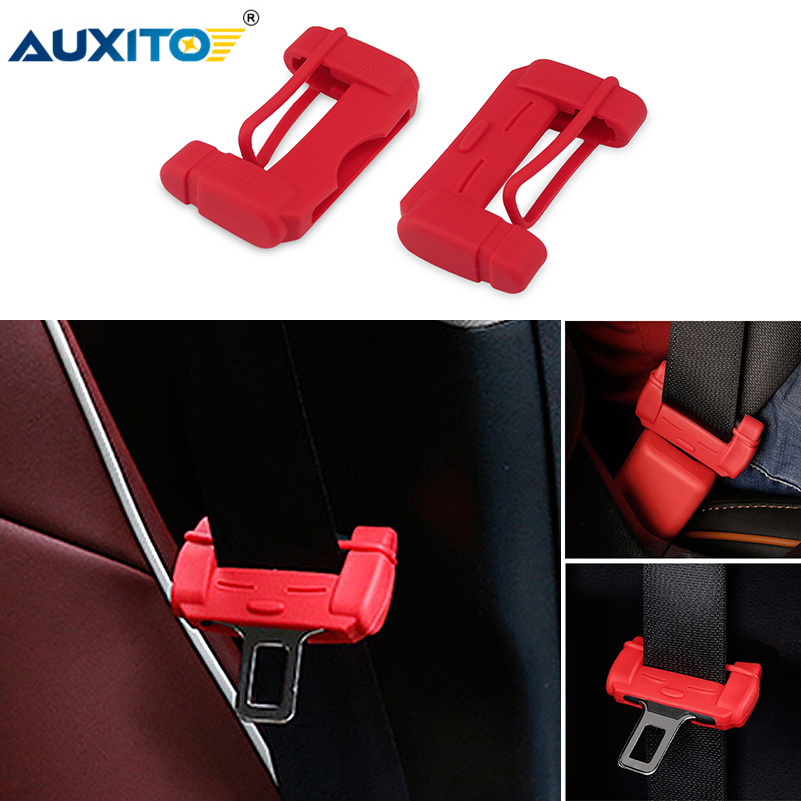 AUXITO Car Styling Seat Belt Buckle Cover for VW Passat B5 B6 CC Golf 4 5 6 7 Jetta MK6 MK4 MK5 Polo 6R Tiguan GTI Accessories image