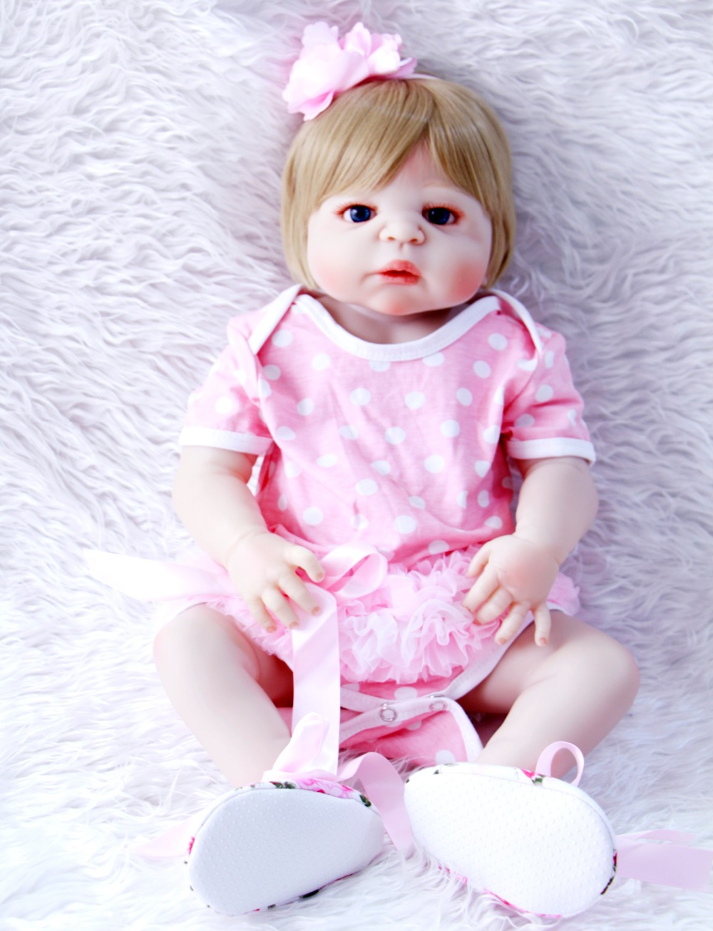 23 Full Silicone Body Reborn babies newborn princess wear pink girl dress handmade adorable toddler dolls kids birthday gifts23 Full Silicone Body Reborn babies newborn princess wear pink girl dress handmade adorable toddler dolls kids birthday gifts