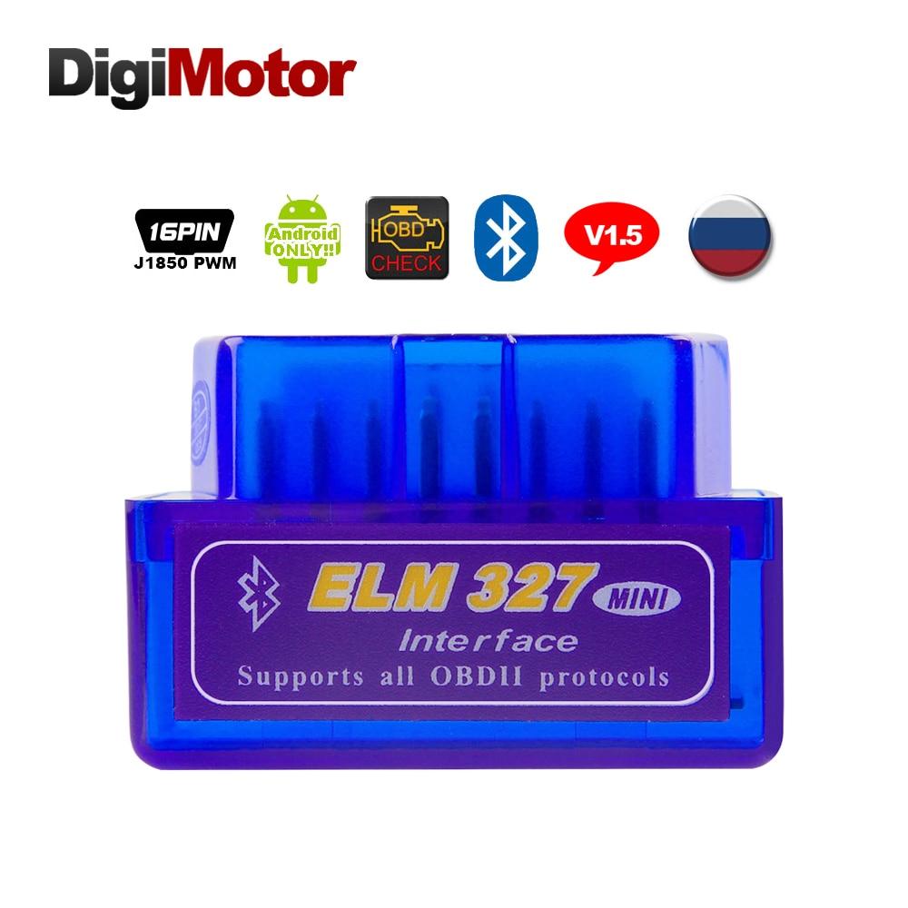 Prix pour Réel ELM 327 V 1.5 ELM327 Bluetooth OBD2 v1.5 Android voiture Scanner Automobile OBD 2 Auto Outil De Diagnostic OBDII Scanner Automotriz