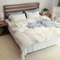 60 Linen 40 Cotton Bedding Set 4pcs Queen Size Japanese Bedsheet Pillowcase Duvet Cover Set Bed