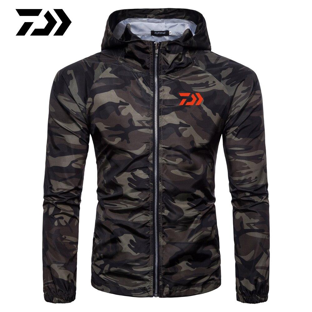2019 New Daiwa Long Sleeve Waterproof Fishing Clothes Coat Windproof Jacket Outdoor Hiking Coat Keep Warm Fishing Jackets