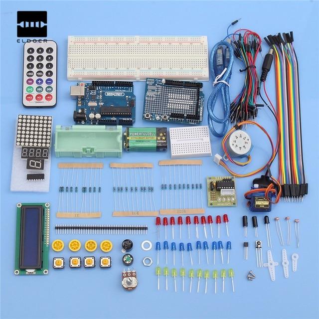 Обучение Комплект Окончательный UNO R3 Starter Kit Для 1602 ЖК Servo Реле двигателя 16 МГц 6 Аналоговые Входы Комплект Электроники Запасов