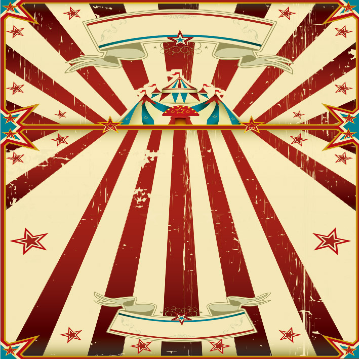 8x8FT Carnival Circus Tent Stage Red Stripes Kids Children