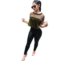 2018 New Women Best Sell O Neck Sexy Lace Splicing Hollow Out Crop Top Ladies Short